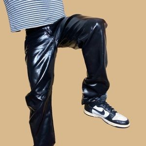 High Waisted Faux Leather Pants by Wrangler 🔥